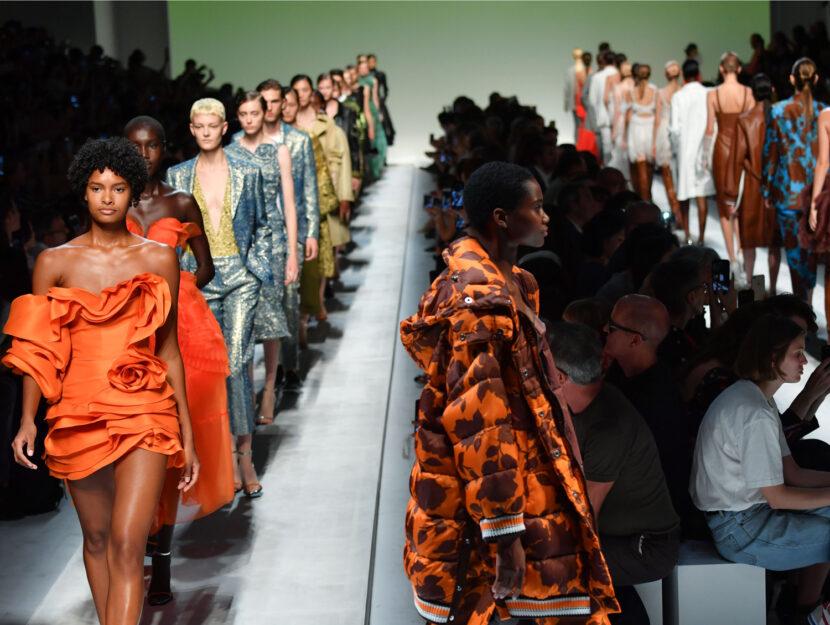 Milano Fashion Week sfilata ermanno scervino modelle