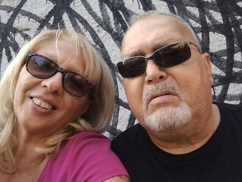 Adriana Signorelli, la vittima, con il marito
