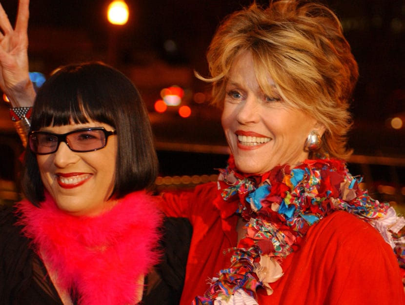 Eve Ensler e Jane Fonda durante il V-DAY di Atlanta nel 2004, Georgia, Stati Uniti. Foto di R. Diamo