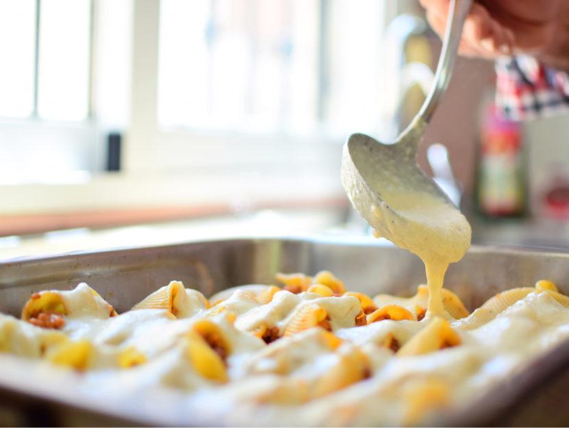 pasta gratinata con besciamella