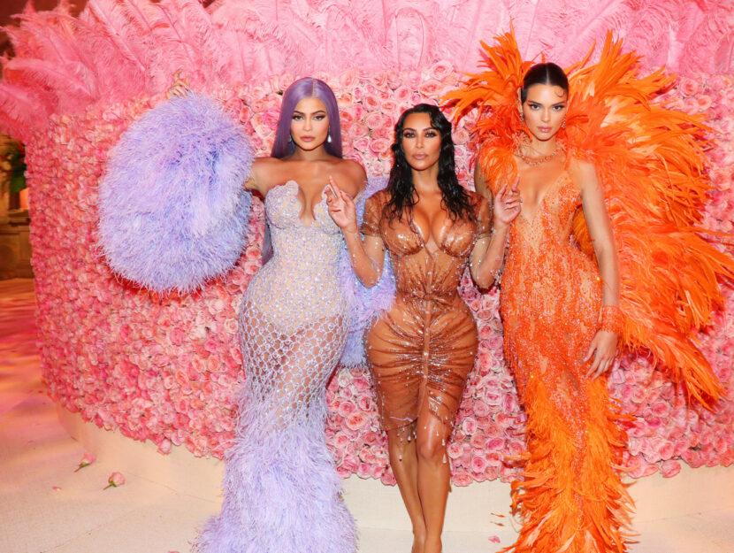 Kylie, Kim e Kendall al Met Gala di New York, maggio 2019, Getty Images