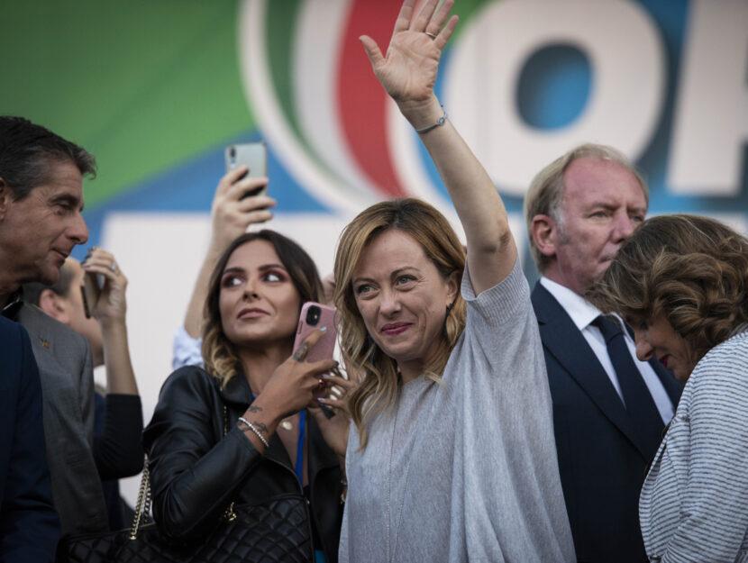 Giorgia Meloni comizio novembre 2019