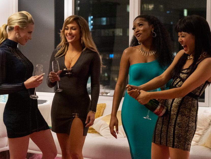 "Da sinistra: Lili Reinhart, Jennifer Lopez, Keke Palmer e Constance Wu in ""Le ragazze di Wall Street"