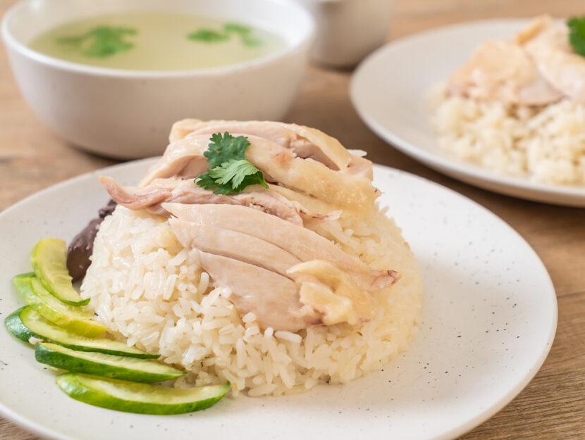 Menu influenza intestinale con pollo e riso bianco