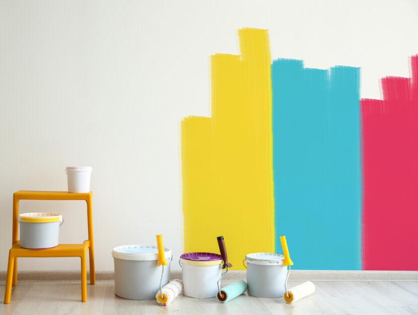 Dipingere parete casa colori
