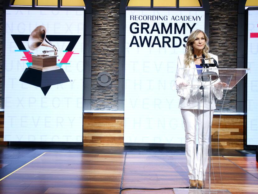 Deborah Dugan alla cerimonia di presentazione delle Nomination per i Grammy