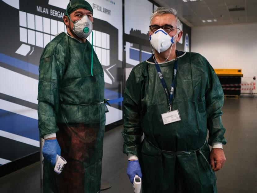 Coronavirus aeroporto Bergamo