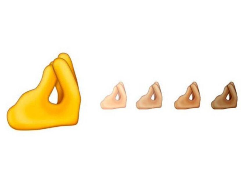 Le nuove emoji che sembrano ricordare il gesto italiano per eccellenza