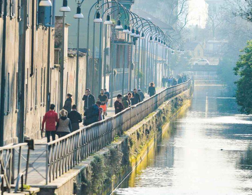 Così si presentava il Naviglio Martesana a Milano il 17 marzo