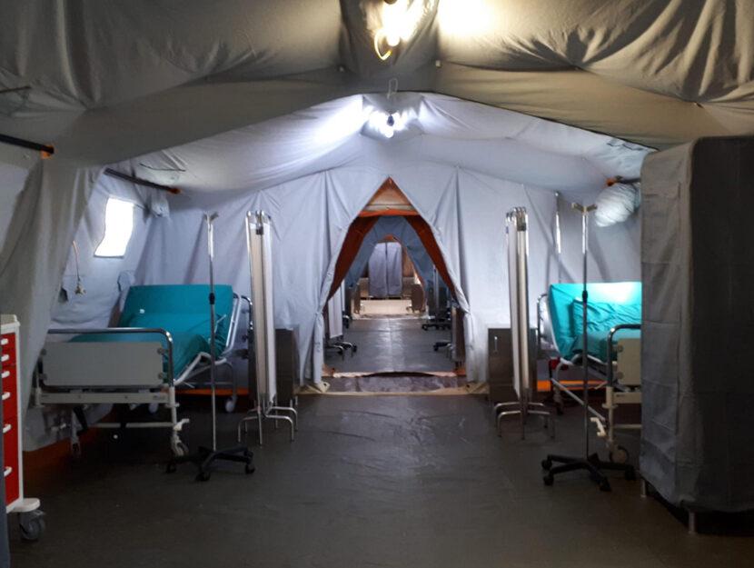 Coronavirus: ospedale da campo di Crema