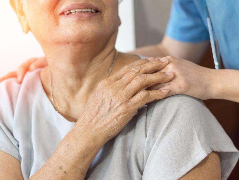 Anziana con badante
