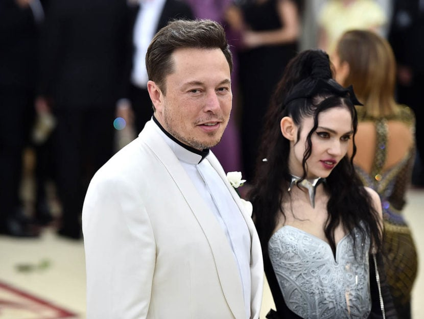 Elon Musk e Grimes al Met Gala 2018. Foto di Theo Wargo/Getty Images for Huffington Post