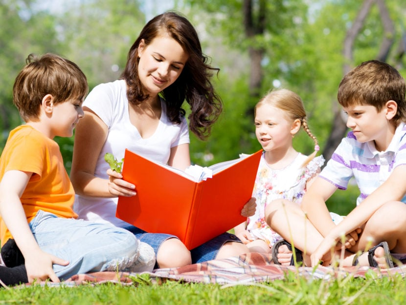 Bambini parco baby sitter libro