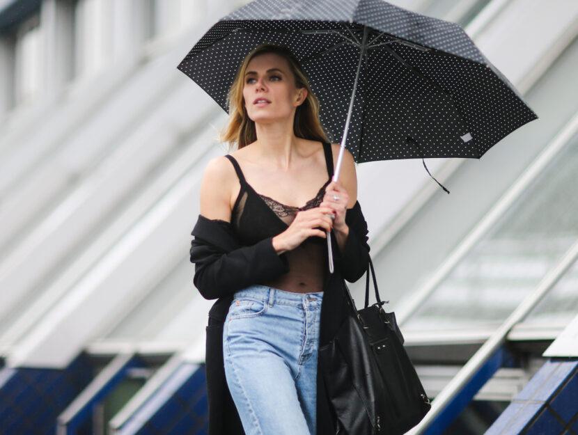 I look di tendenza per combattere la pioggia estiva