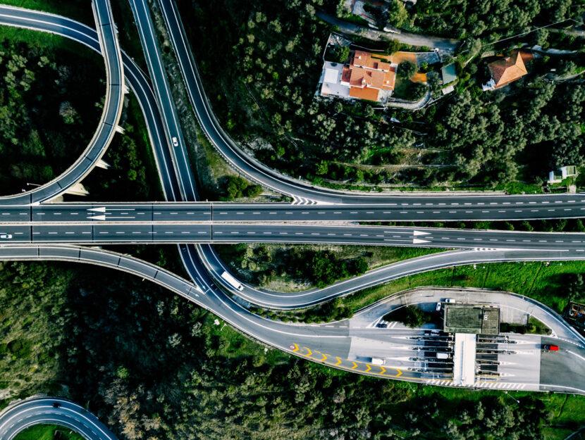 Autostrada Italia panoramica