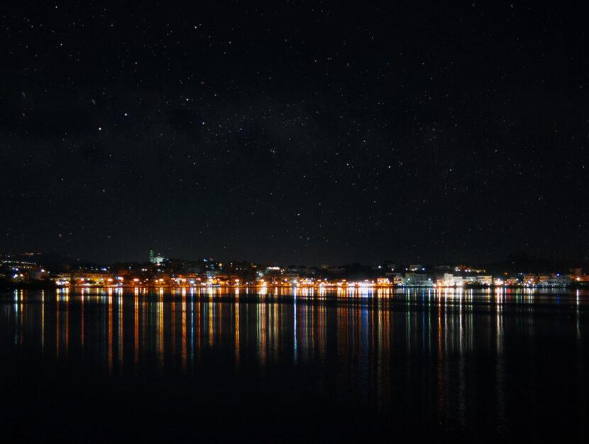 Cielo stellato Napoli mare