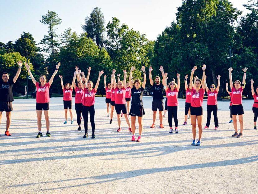 Il gruppo di Milano nel suo ultimo allenamento