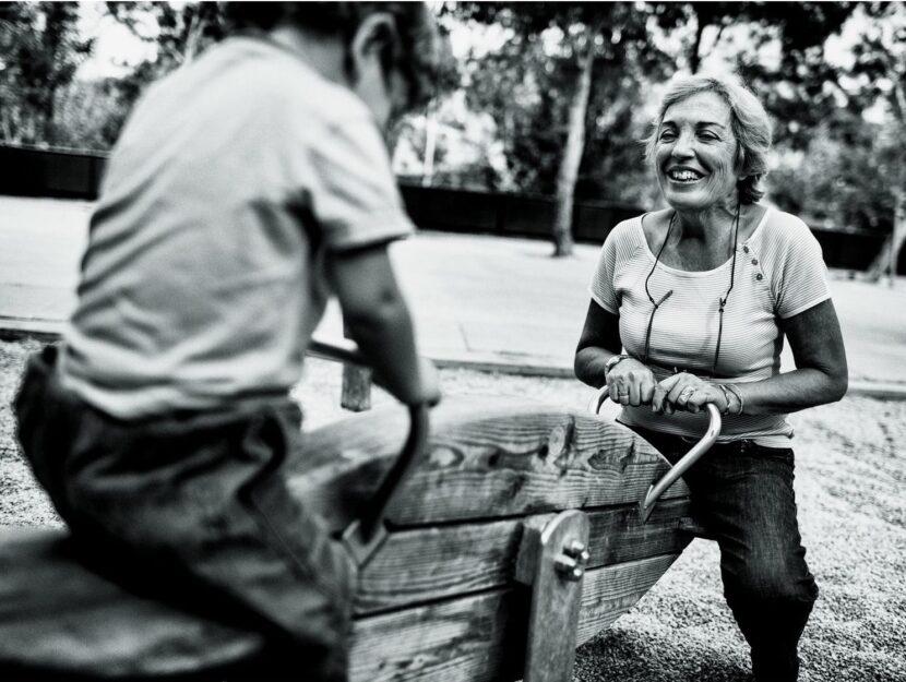 Nonna nipote parco