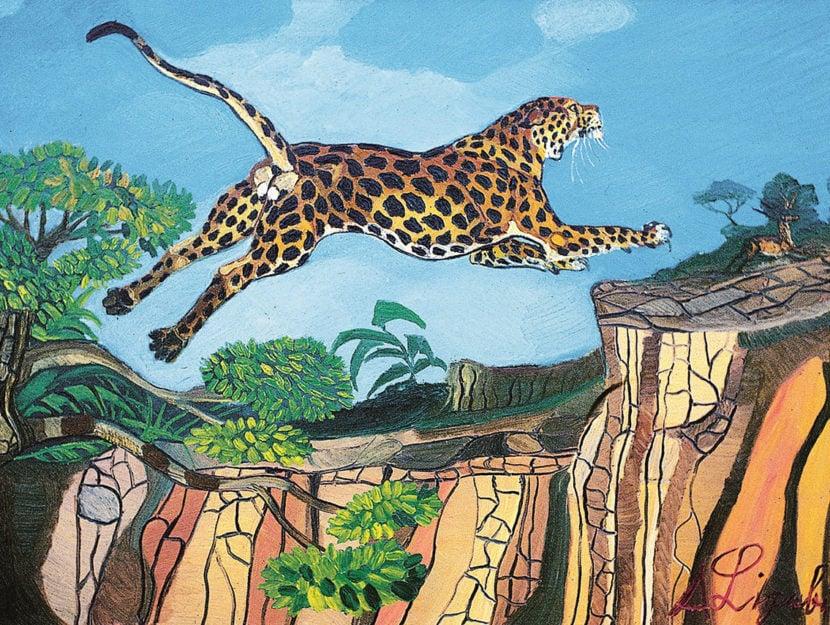 Ligabue - Leopardo su roccia