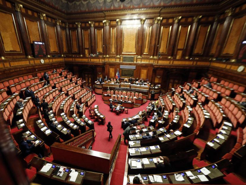 Aula di Palazzo Madama Senato Roma
