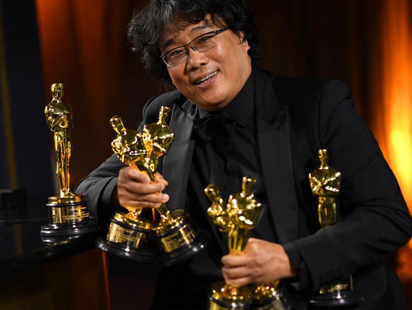 Il regista sudcoreano Bong Joon-ho agli Oscar 2020: il suo Parasite è il primo film non in lingua i
