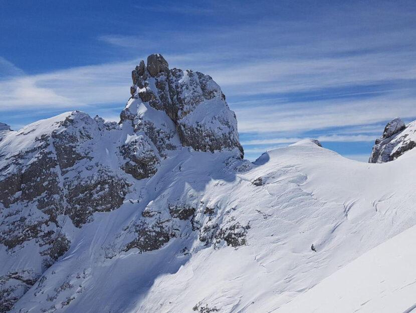 Una veduta della Marmolada ghiacciaio