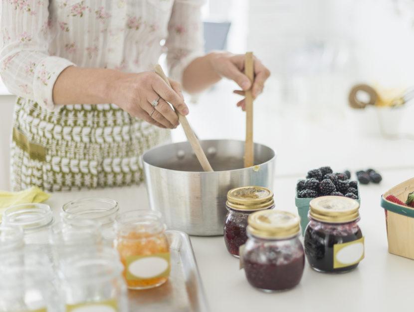 Marmellata fatta in casa cucina