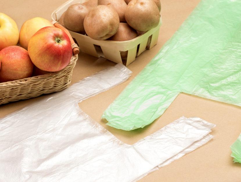 Sacchetti in plastica biodegradabile