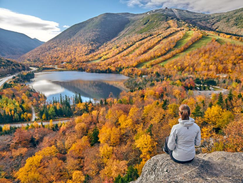 Donna natura paesaggio
