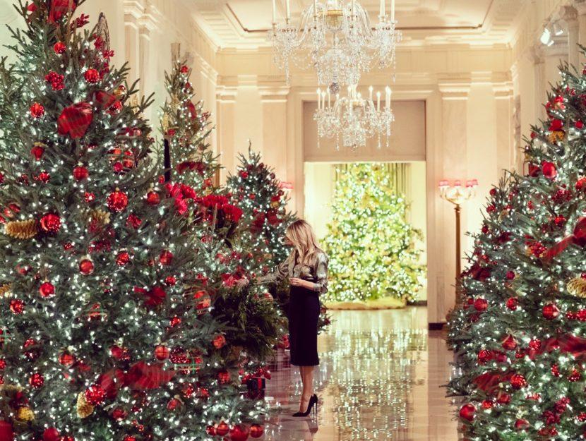 """Melania Trump presenta """"America the Beautiful"""", le ultime decorazioni natalizie da First Lady"""
