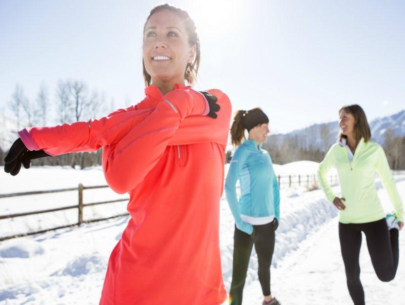 esercizi durante l'inverno