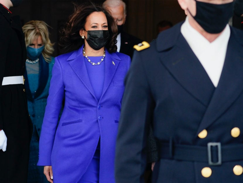 Kamala Harris all'Inauguration Day del 20 gennaio 2021