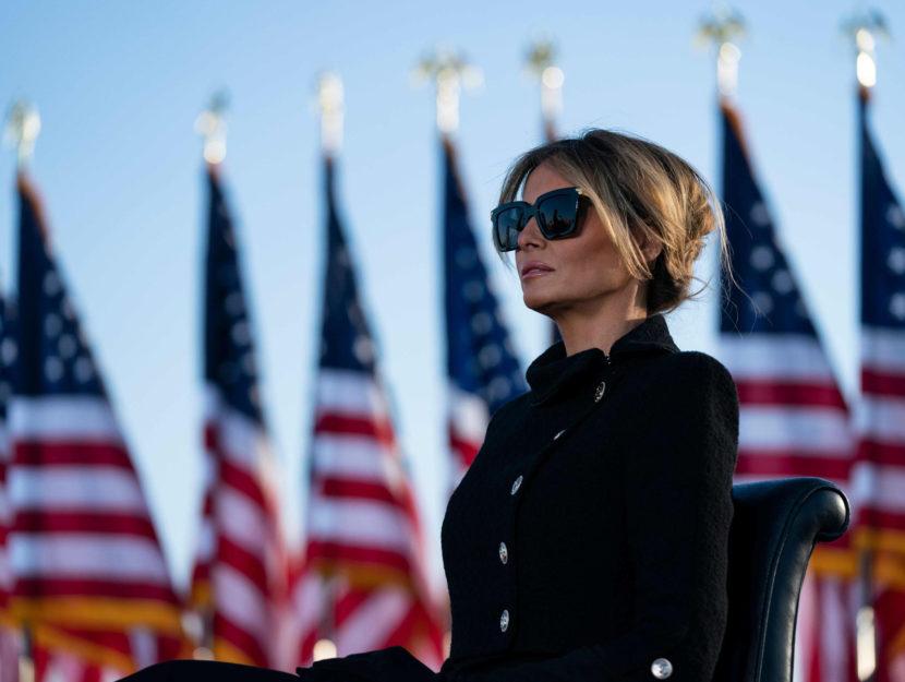 Melania Trump Casa Bianca 20 gennaio 2021
