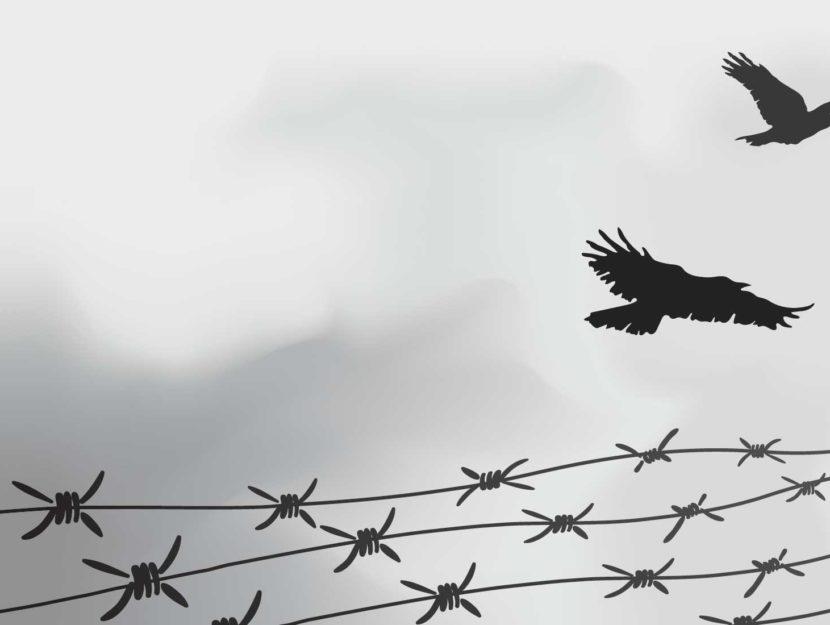 Olocausto recinzione filo spinato