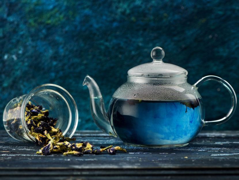 te blu teiera Butterfly pea flower tea