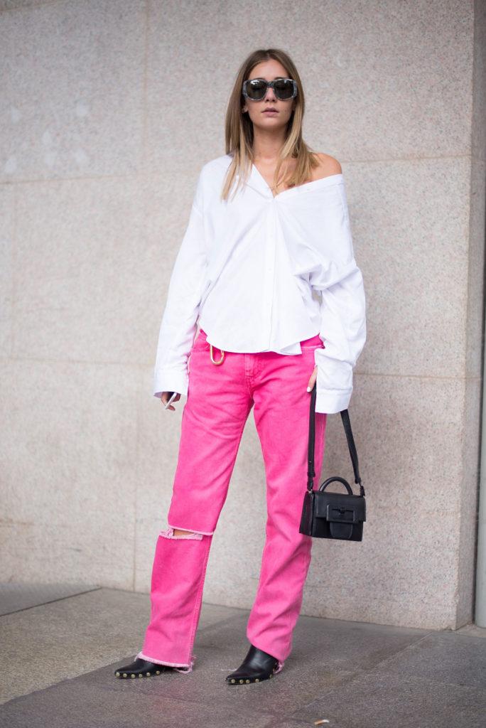Fucsia jeans primavera estate 2021