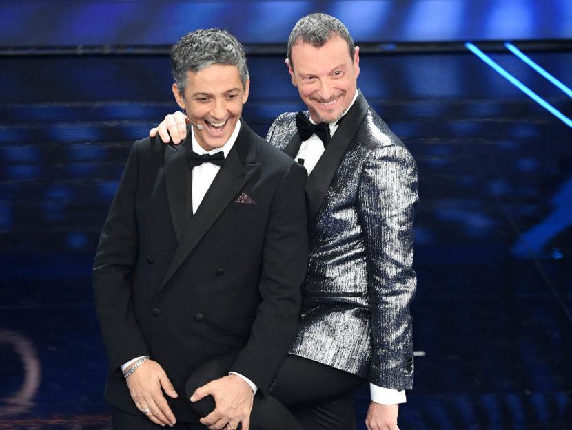 Amadeus e Fiorello al festival di Sanremo