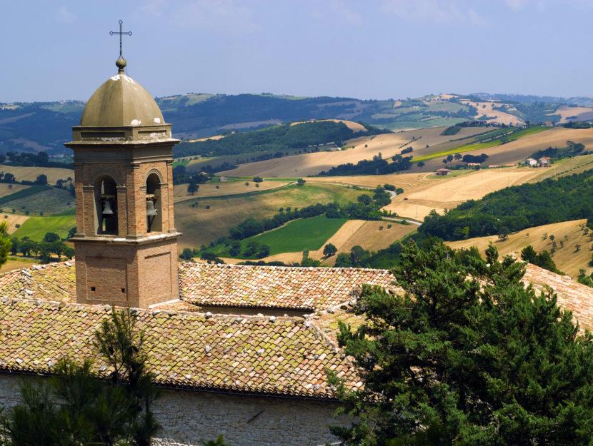 Marche panorama vicino Arcevia