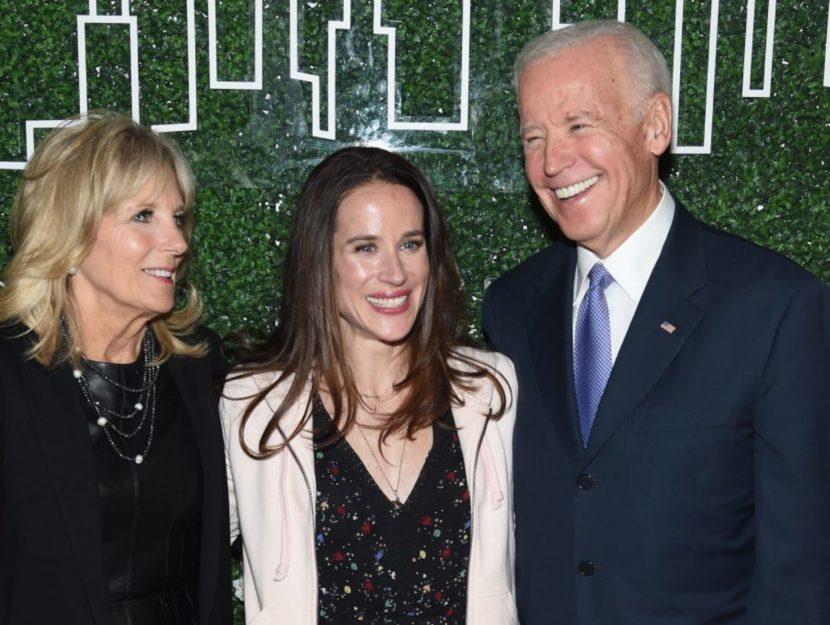 Ashley Biden con i genitori Jill e Joe