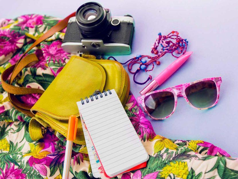 accessori da travel blogger