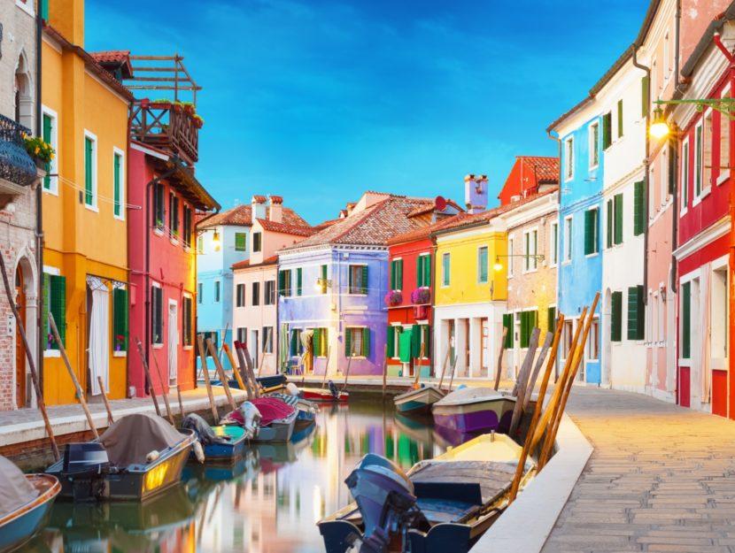 Uno degli scorci più fotografati di Burano, Venezia