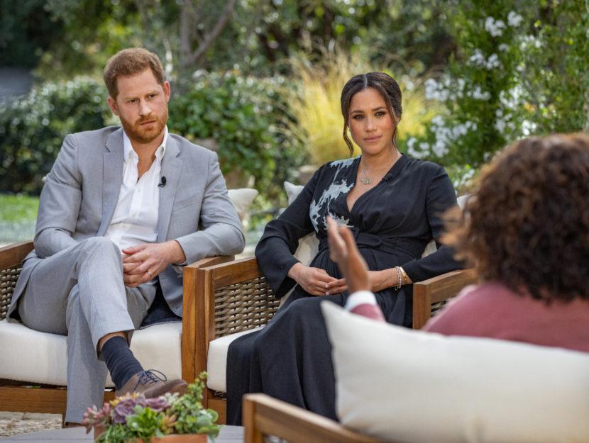 Harry e Meghan nel salotto di Oprah Winfrey