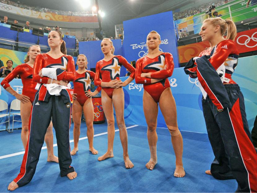 Il team americano di ginnastica Olimpiadi di Pechino 2008