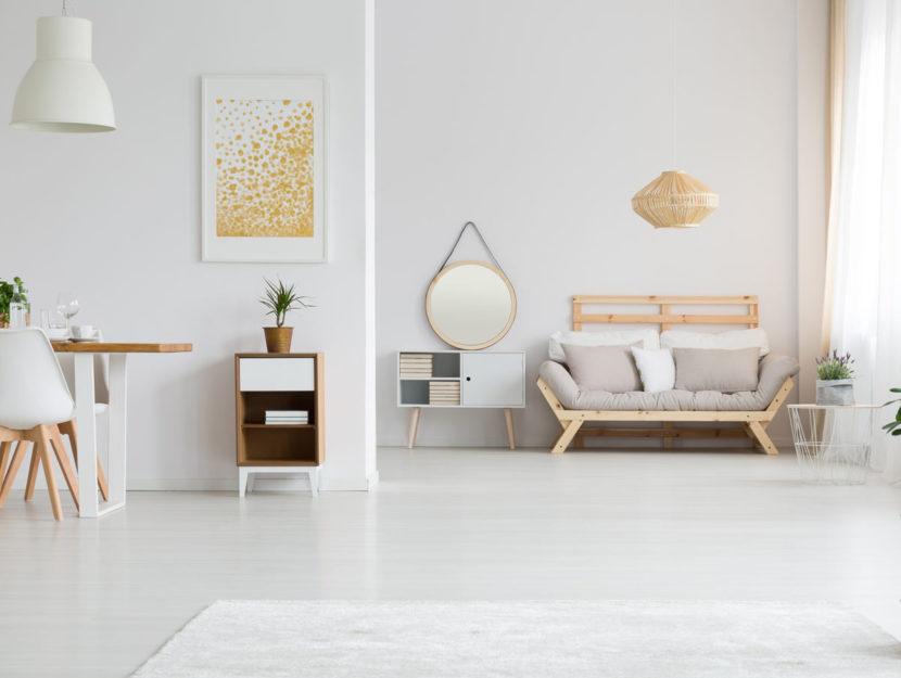 Zona living open space stile nordico