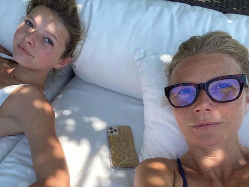 Gwyneth Paltrow con la figlia Apple