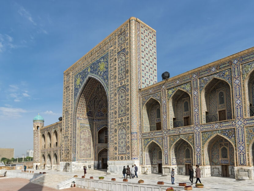 Tilya-Kori Madrasah, Registan, Samarcanda