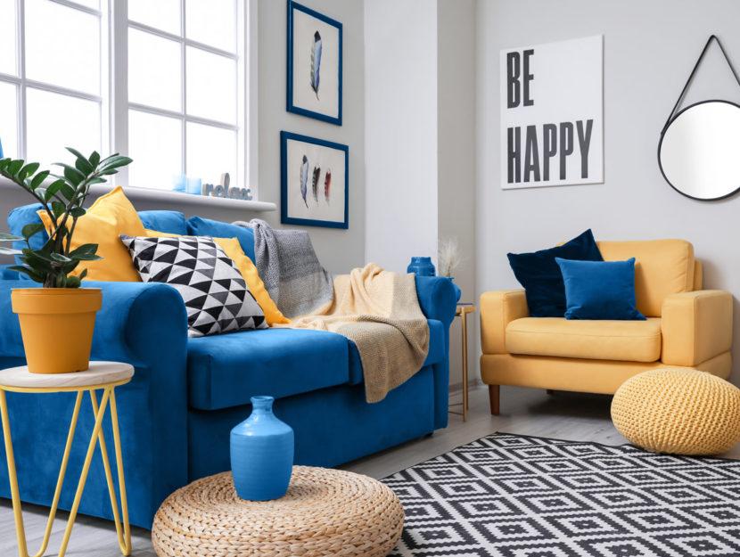 Salotto colorato di design
