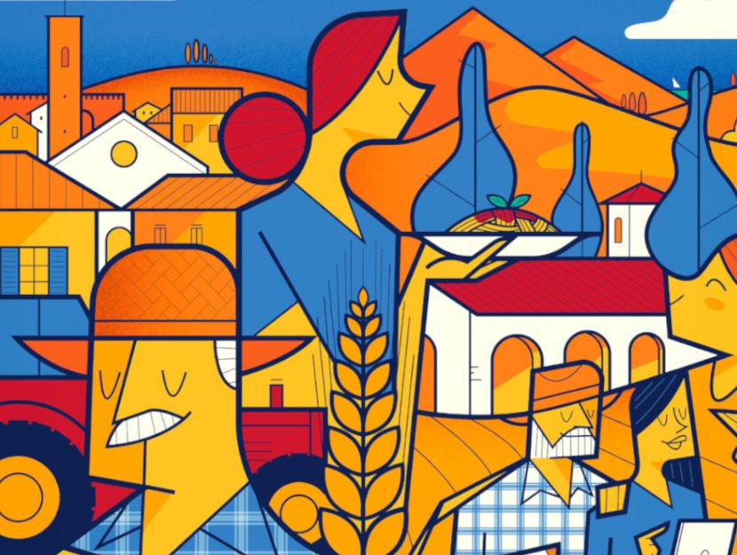 Illustrazione per progetto Barilla di Ale Giorgini