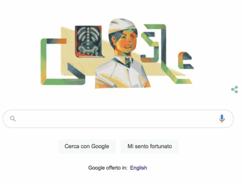 Il Google Doodle dedicato a Vera Gedroits