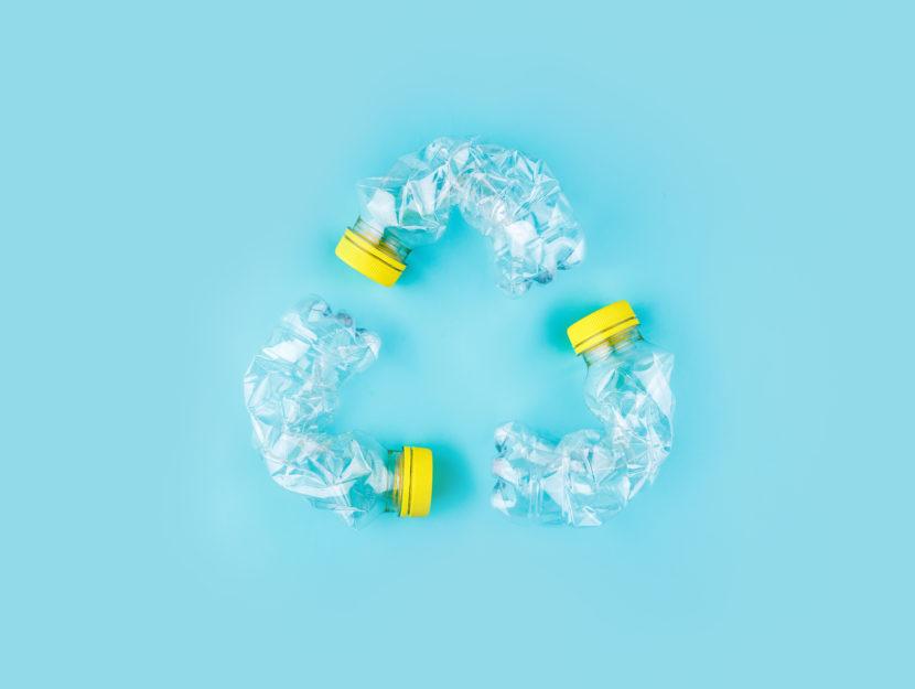 oggetti di plastica riciclata